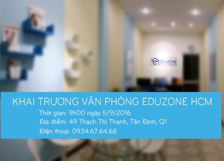 Thư mời tham dự lễ khai trương văn phòng Eduzone Hồ Chí Minh