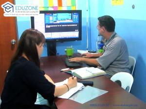 Giờ học Nghe 1:1 khóa TOEIC trường Anh ngữ CIJ, Philippines