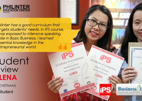 Cảm nhận của Helena về khóa IPS và Business tại trường Philinter