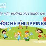 Thông báo lịch gặp đoàn trước khi bay du học hè Philippines 2018
